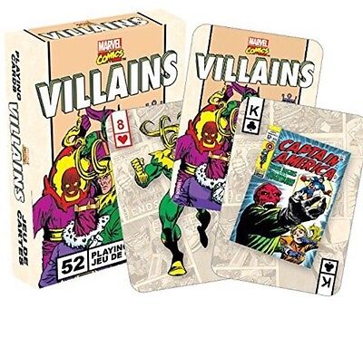 Marvel Villains - Retro set of  playing cards *Brand New & Sealed*