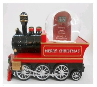 Christmas Train Musical Water Globe with Inside Photo Frame NEW IN BOX Resin 45m