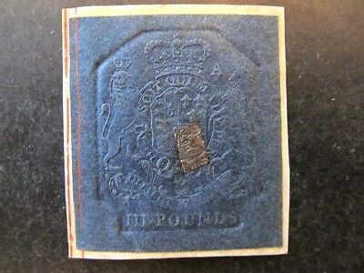 Great Britain (1760-1820) King George Iii, Embossed Revenue, 3 Pounds, Plate-A