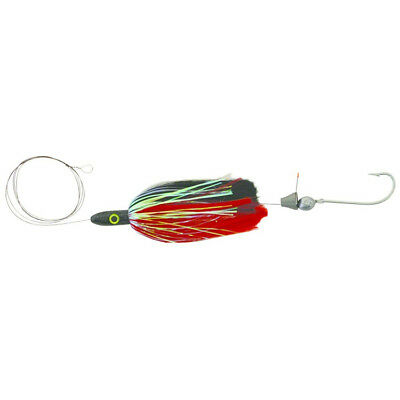 "Blue Water Candy Rigged Jag, 3-1/4 oz., 9"", Red/Black, 55164"
