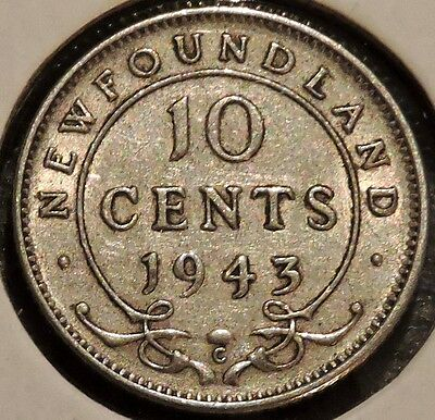 Newfoundland 10 Cents - 1943  - King George VI - $1 Unlimited Shipping