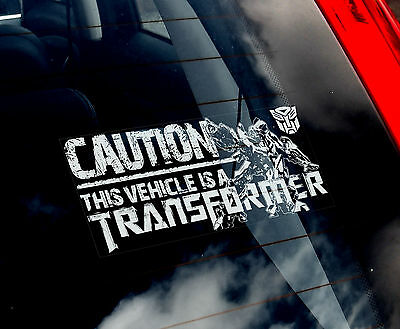 CAUTION: This Car is a Transformer - Car Sticker - Transformers Comic Bumble Bee