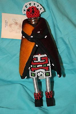 "South African Art Fertility Doll Ndebele Tribe Beaded Figure 10"" NWT New"