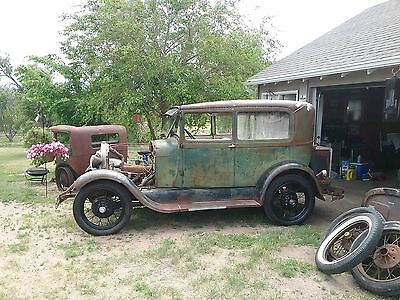 1929 Ford Model A  1929 Ford Model A Tudor Sedan Barn Find