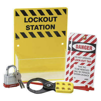 BRADY Plastic Lockout Station,Filled,8 In H, KT226A, Yellow