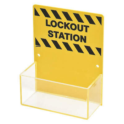 BRADY Plastic Lockout Station,Unfilled,6-1/4 In W, LC226A, Yellow