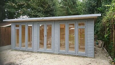 Summer house  home office  double glazed 20x 8ft  DELIVERED & ERECTED