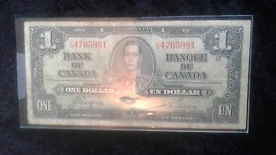1937 bank of canada king George  $1 note