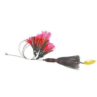 Blue Water Candy Jag-A-Hoo Rig, 8 oz., Red/Black with Attractors, 58203
