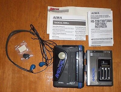 "AIWA HS-RD7 ""Radical"" vintage walkman AM FM Stereo radio cassette player VGC!"