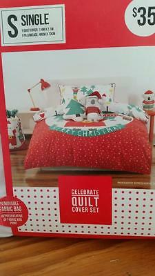 Christmas single bed quilt cover  nwt ..too cute 1 of 2