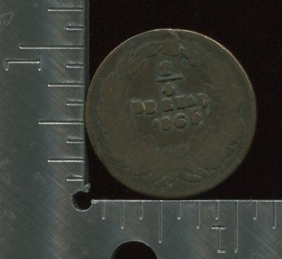 Mexico	1/4 Real Una Quartilla	1865	KM#	344	copper	[209]