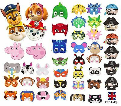KIDS FACE MASKS Birthday Party Bag Toy Filler Decoration Toys Gift +FREE POST UK