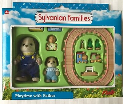 Sylvanian Families RARE Playtime with Father 2003 Flair Ref 4317