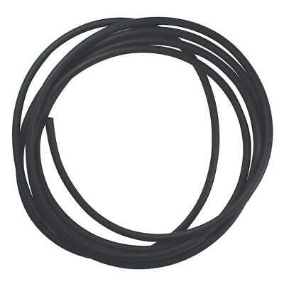 E. JAMES Viton(R) Rubber Cord,Viton,1/4 In Dia,25 Ft, CSVIT-1/4-25, Black