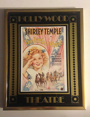 The Littlest Rebel Movie POSTER 5 X 7 Shirley Temple, in Frame, Repro, 1978