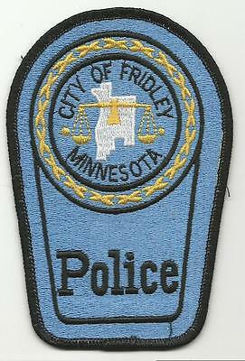 Fridley MINNESOTA MN Police patch fully embroidered OLD