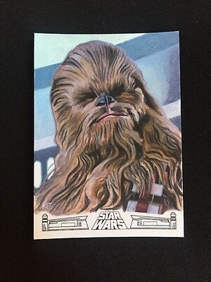 2017 TOPPS STAR WARS 40th ANNIVERSARY CHEWBACCA BY KRIS PENIX SKETCH RARE 1/1