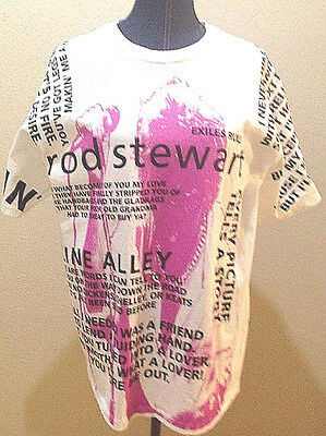 Sir Rod Stewart Vintage 1993 Concert TShirt Men XL Every Picture Tells A Story