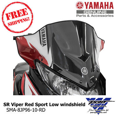 Yamaha OEM SR Viper Red Sport Low windshield - SMA-8JP96-10-RD