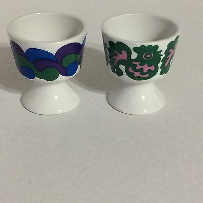 Pair of 2 Vintage ARABIA OF FINLAND Egg Cups