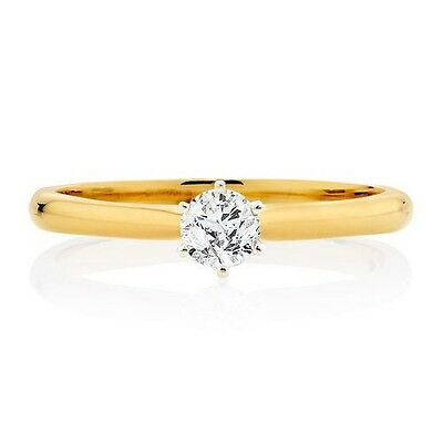 Engagement Ring with a 1/4 Carat Diamond in 18ct Yellow & White Gold