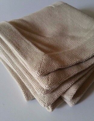 Mexx Light Brown Tan 100% Cotton Soft Knit Baby Blanket Amsterdam Fall