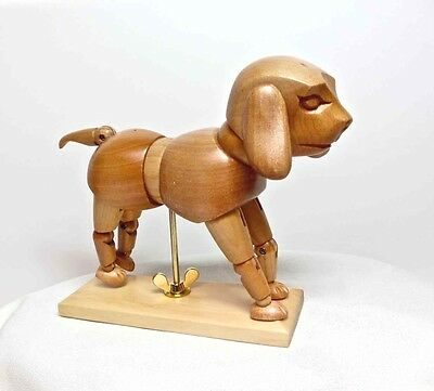 Wood Dog Articulated Mannequin Artist Jointed Posing Model Sketch Drawing Figure