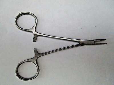"""5"""" Straight Hemostat Forceps Locking Clamps Serrated Jaw Stainless Steel"""