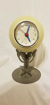 Metal Mickey Mouse Holding Round Clock Vintage 1999