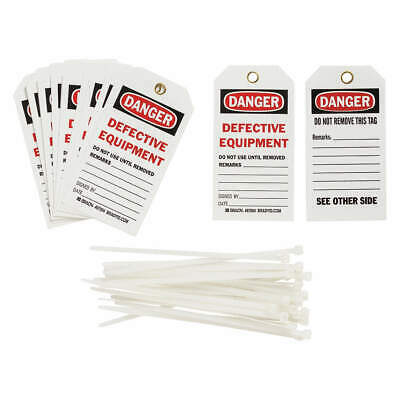 BRADY Danger Tag,5-3/4 x 3 In,ISO 9001,PK25, 87004