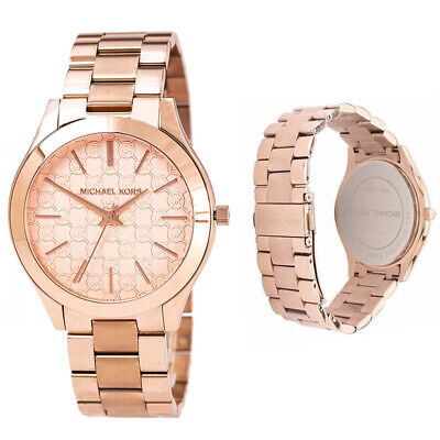 92e7040d3f40 100% New Michael Kors Slim Runway Rose Gold Colour Ladies 42mm Watch MK3336