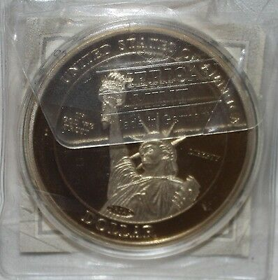 2009 Abraham Lincoln Lady Liberty Trial Proof COIN Layered in 24k Gold COA 50mm