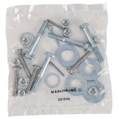 MAGLINER Zinc Plated Steel Hand Truck Fastener Pack Kit,3 in H, 301046, Silver