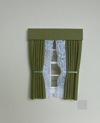 Dolls House Curtains Bamboo