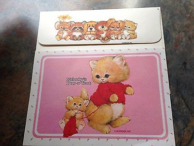 NOS Kitten Cat Baby Koala Raccoon Beaver Bunny Dog Animals Morehead Card Vtg