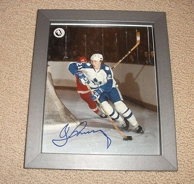 Borje Salming - Autographed Toronto Maple Leafs 8x10 Photo Signed *Framed*
