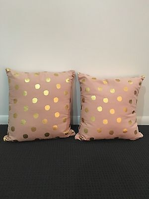 Cushions - Dusty Pink With Gold Spot X 2