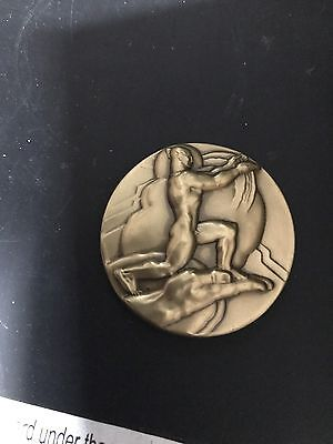 RARE BRONZE Medal 1982 NATIONAL SCULPTURE SOCIETY 90TH Anniversary