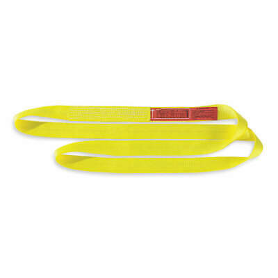 LIFT-ALL Web Sling,Type 5,Polyester,2inW,4 ft.L, EN1602DX4, Yellow
