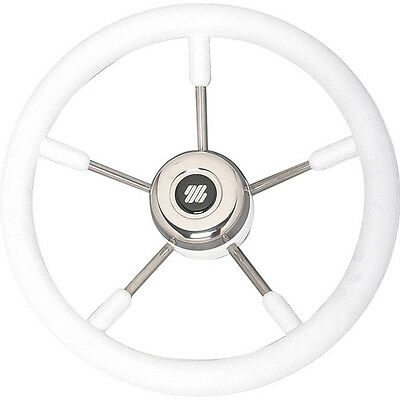 Boat Steering Wheel Non Magnetic  350mm Stainless Steel  With White Grips