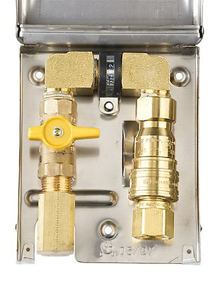 Burnaby Manufacturing Ltd BBQ-SS-50 Gas Outlet Box with 1/2-Inch Inlet, 1/2-Inch
