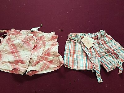 2 x girls Pumpkin Patch shorts size 6-Brand New With Tags