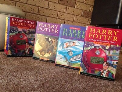 Harry Potter 1st Edition 2nd Printing Hardback Boxed 3 Set