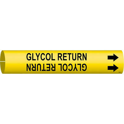 BRADY Plastic Pipe Markr,Glycol Return,2-1/2to3-7/8 In, 4189-C