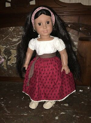 """AMERICAN GIRL JOSEFINA Doll in Pleasant Co. """"Meet Outfit"""" - Very Nice Condition"""