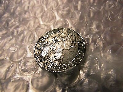 Spain 1788 Two (2) Reales Silver Coin