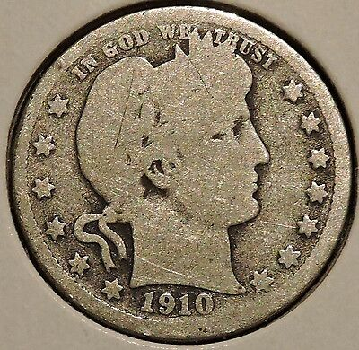 Barber Quarter - 1910-D - Historic Silver! - $1 Unlimited Shipping