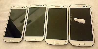 4 Lot Samsung Galaxy s3 I747 l710 i535 GSM CDMA For Parts Used Wholesale As Is