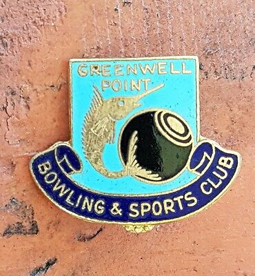 Vintage Greenwell Point Bowling & Sports Club Badge
